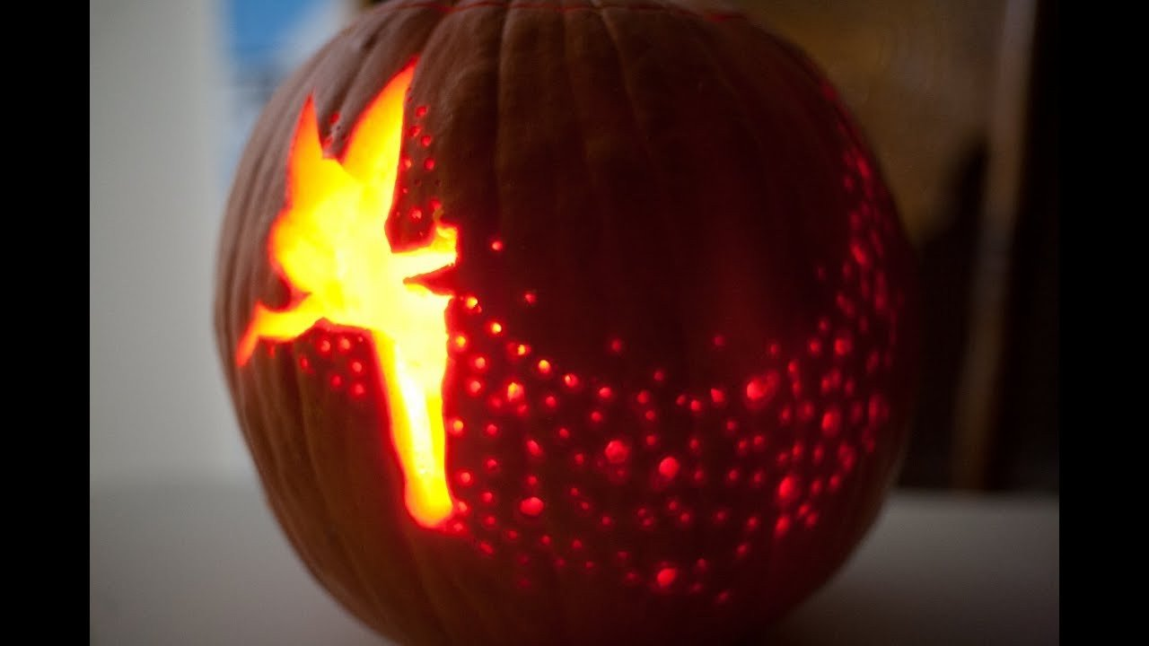 Tinkerbell Pumpkin Carving Patterns Tinkerbell Pumpkin Carve Time Lapse