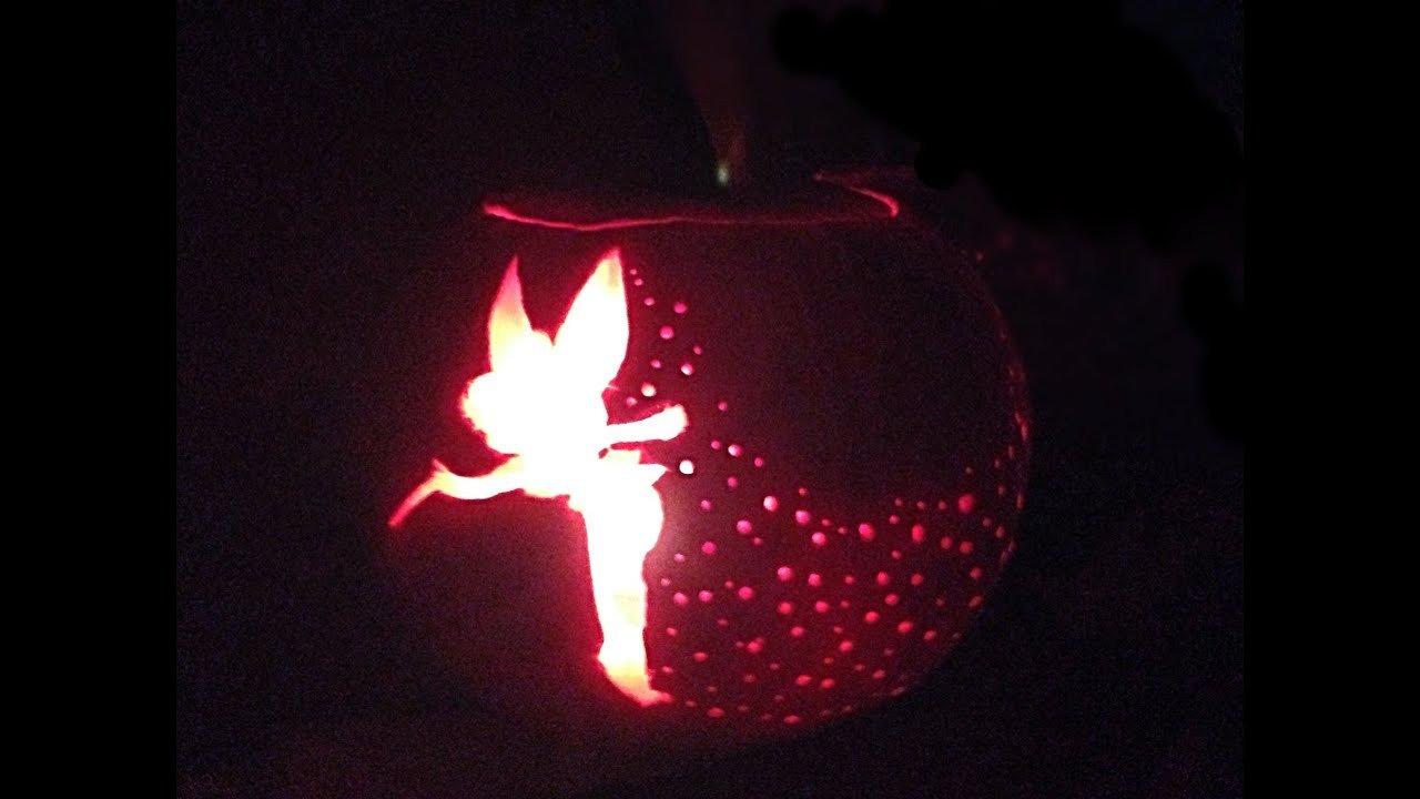 Tinkerbell Pumpkin Carving Patterns Tinkerbell Pumpkin Carving Tutorial