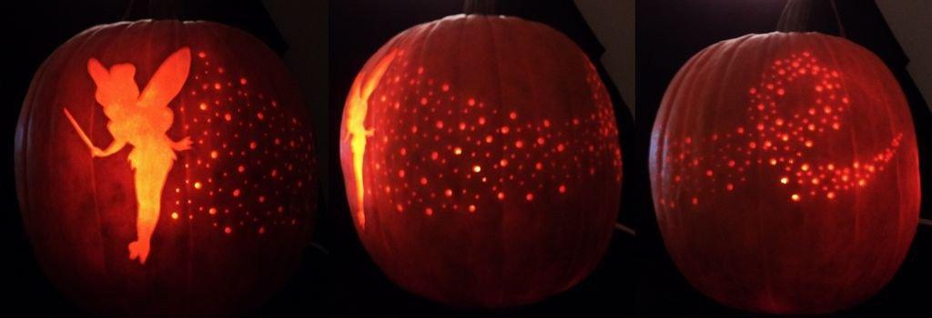 Tinkerbell Pumpkin Carving Templates Tinker Bell Pixie Dust Pumpkin Carving