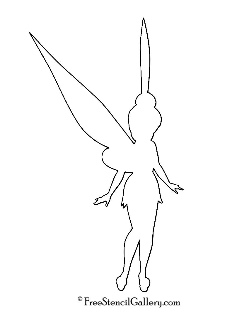 Tinkerbell Pumpkin Carving Templates Tinkerbell Silhouette Stencil