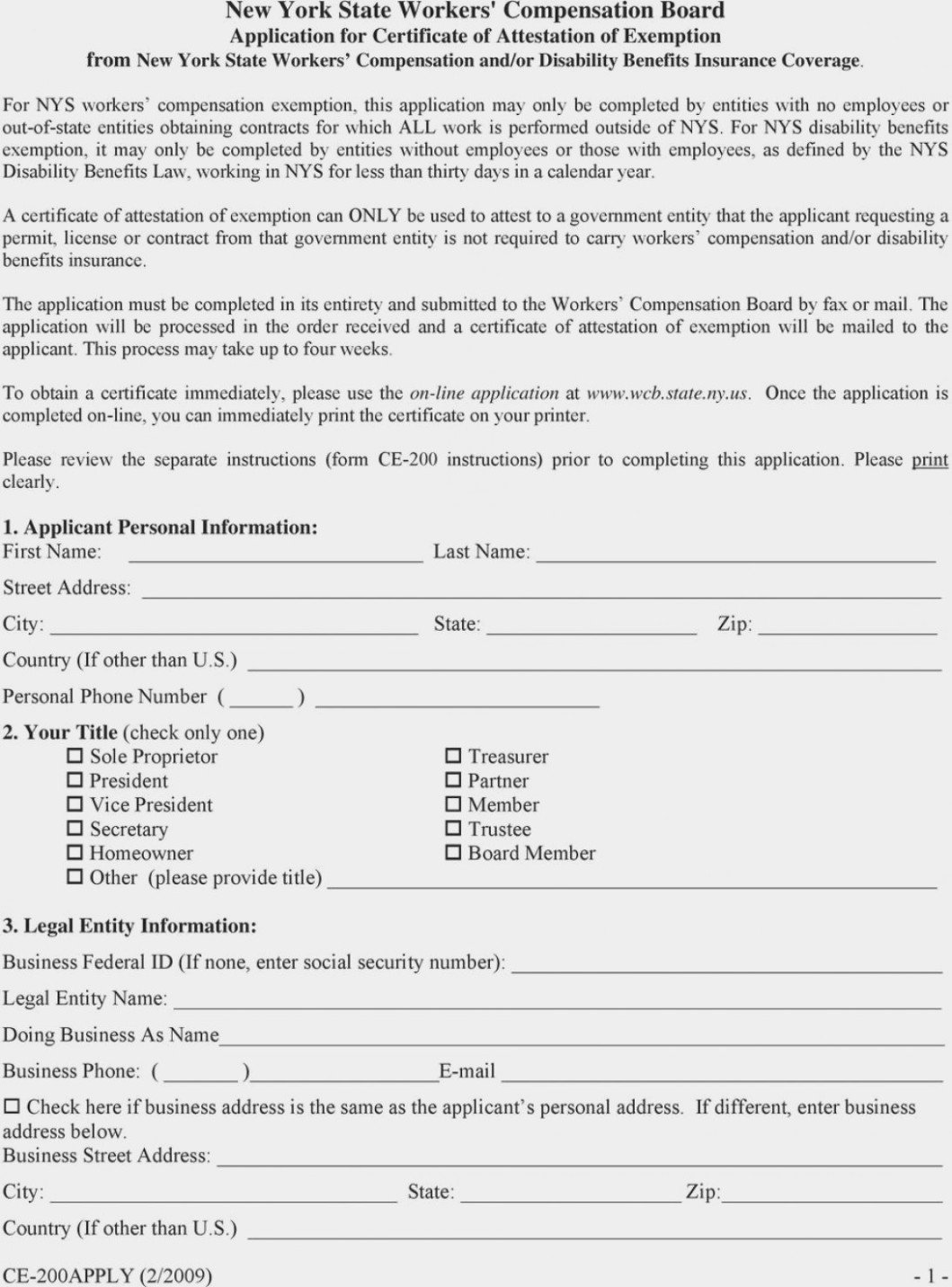 Tn Workers Comp Exemption form is Workers Pensation form Ce 11