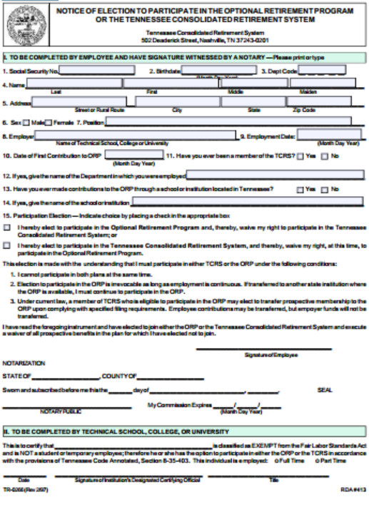 Tn Workers Comp Exemption form New Hire orientation Notice Of Election