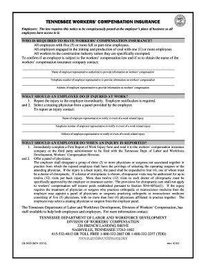 Tn Workers Comp Exemption form Tennessee Workers Pensation forms