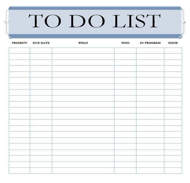 To Do List Template Word 7 to Do List Templates Word Excel Pdf Templates