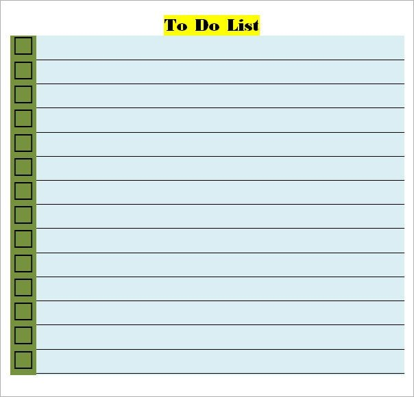 To Do List Template Word to Do List Template 16 Download Free Documents In Word