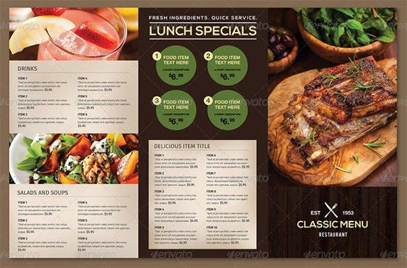To Go Menu Template 51 Restaurant Menu Templates Design Psd Docs Pages