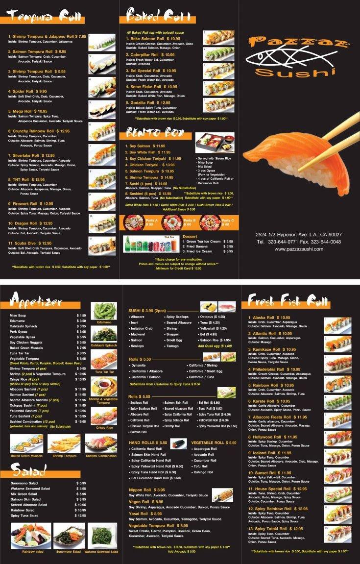 To Go Menu Template Japanese Restaurant to Go Menu Design and Printing