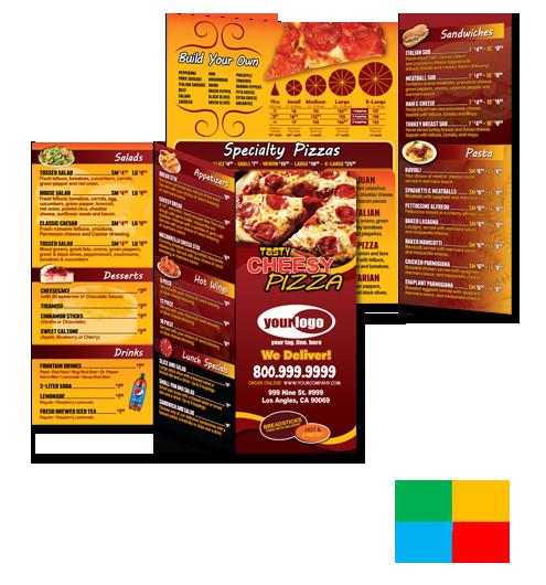 To Go Menu Template Pizza Print Templates Of Door Hangers to Go Menus Box