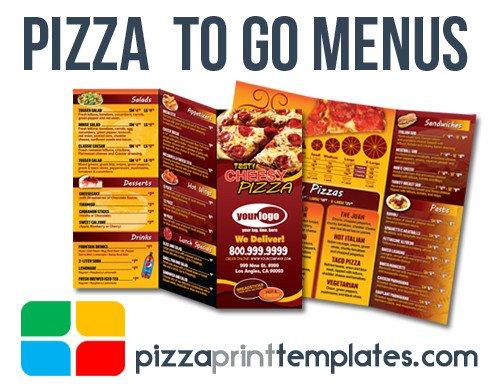 To Go Menu Template Pizza to Go Menus Design and Print Templates