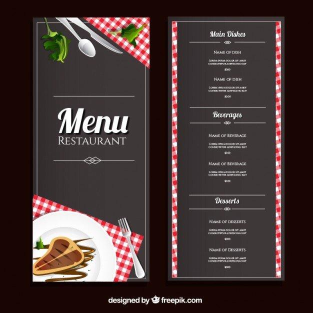 To Go Menu Template Restaurant Menu Template Vector