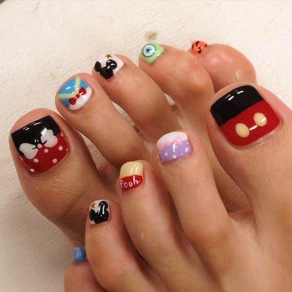 Toe Nail Designs Ideas 60 Cute & Pretty toe Nail Art Designs Noted List