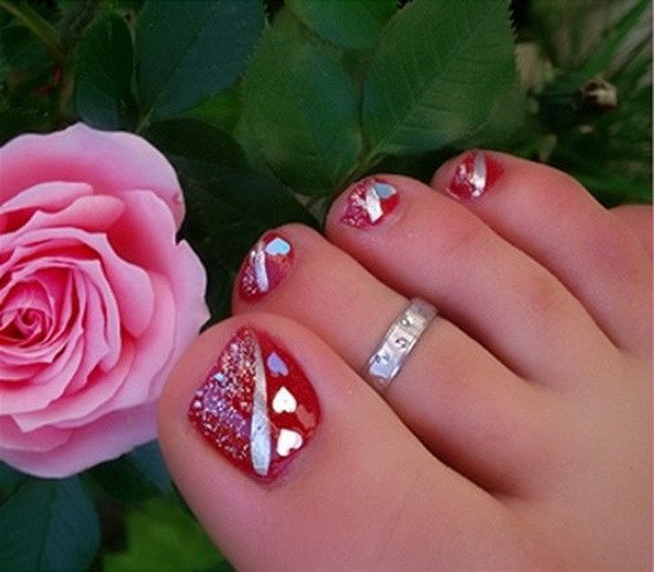 Toe Nail Designs Ideas Lamste Famail toe Nail Art Designs for Christmas 2012
