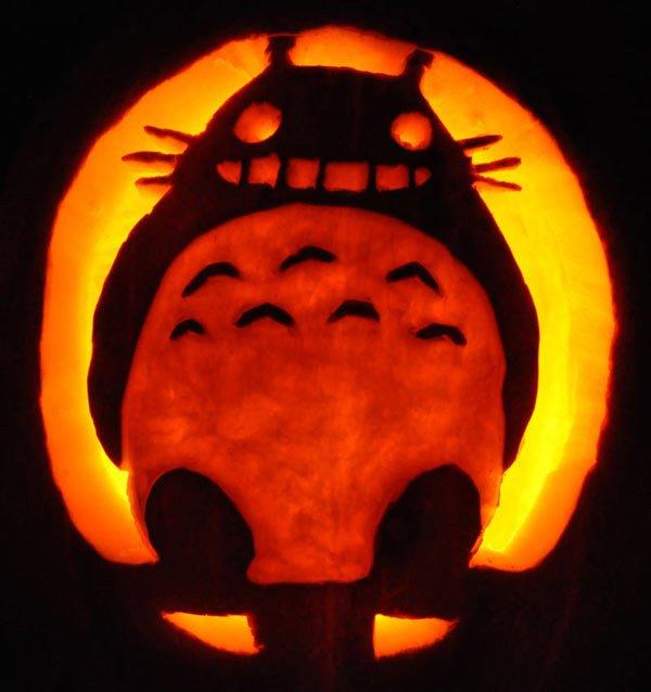 Totoro Pumpkin Pattern Fantasy Pumpkins Noel S Pumpkin Carving Archive