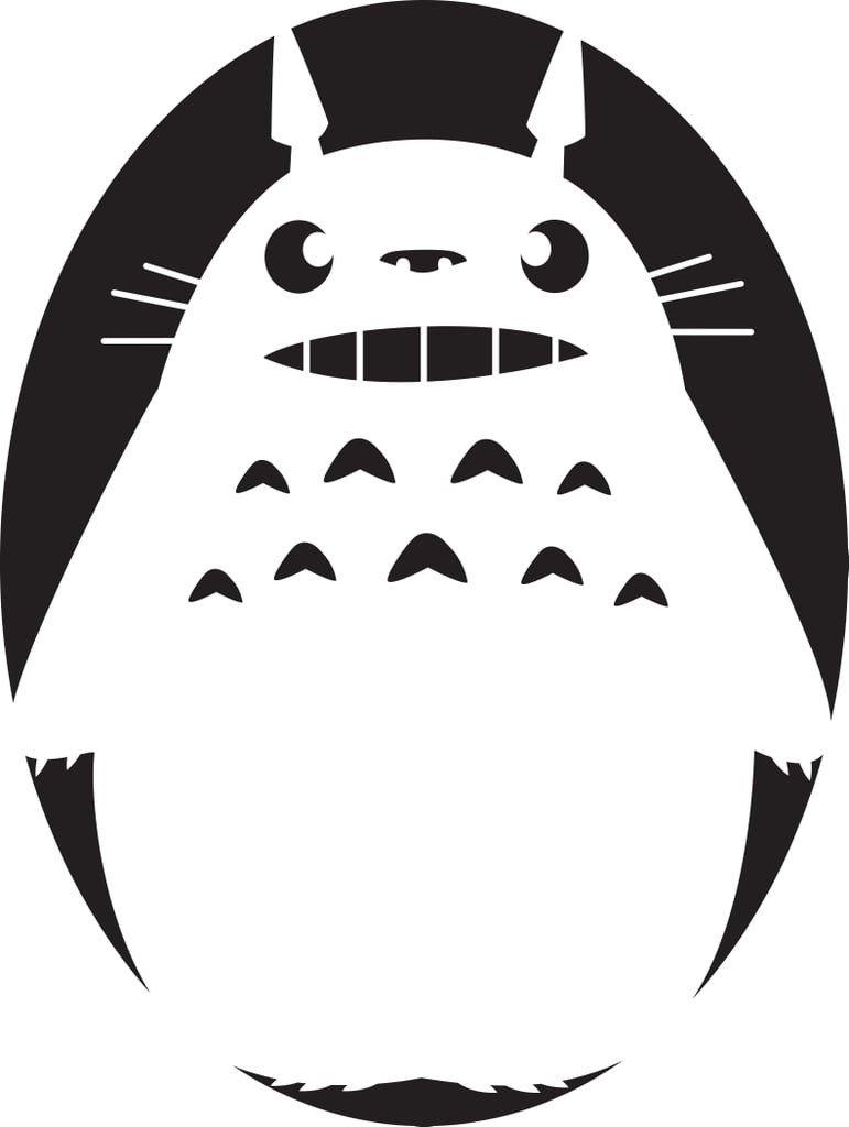 Totoro Pumpkin Pattern Free Studio Ghibli Pumpkin Templates