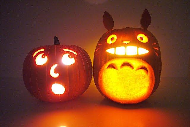 Totoro Pumpkin Pattern Tatami House Halloween Pumpkins 2011