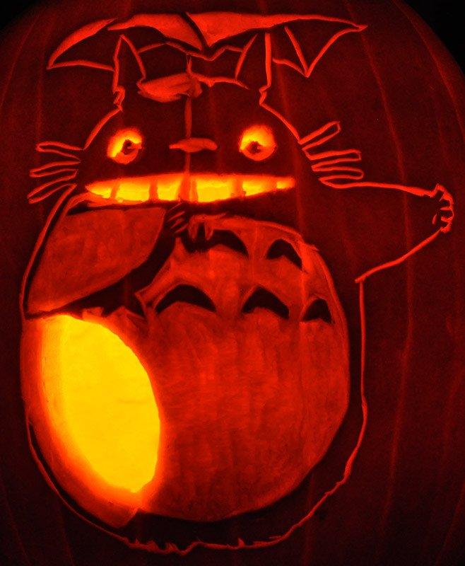 Totoro Pumpkin Pattern the Pumpkin Wizard • View topic Noel S 2011 Carvings