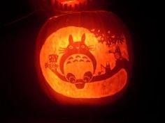 Totoro Pumpkin Pattern totoro Pumpkin Stencil