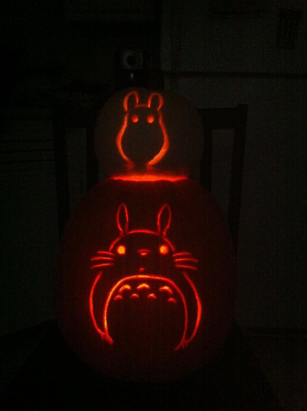 Totoro Pumpkin Pattern totoro Pumpkins by Pippin Chan On Deviantart