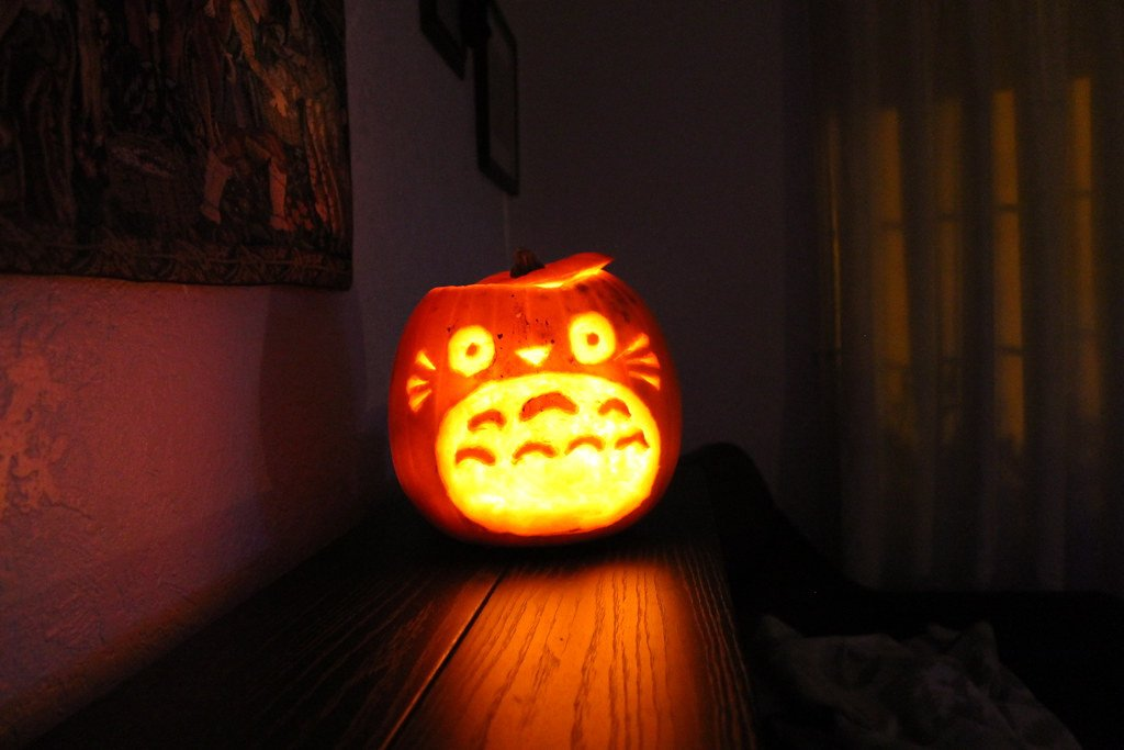 Totoro Pumpkin Pattern Will & Ellie S totoro Carved Halloween Pumpkin