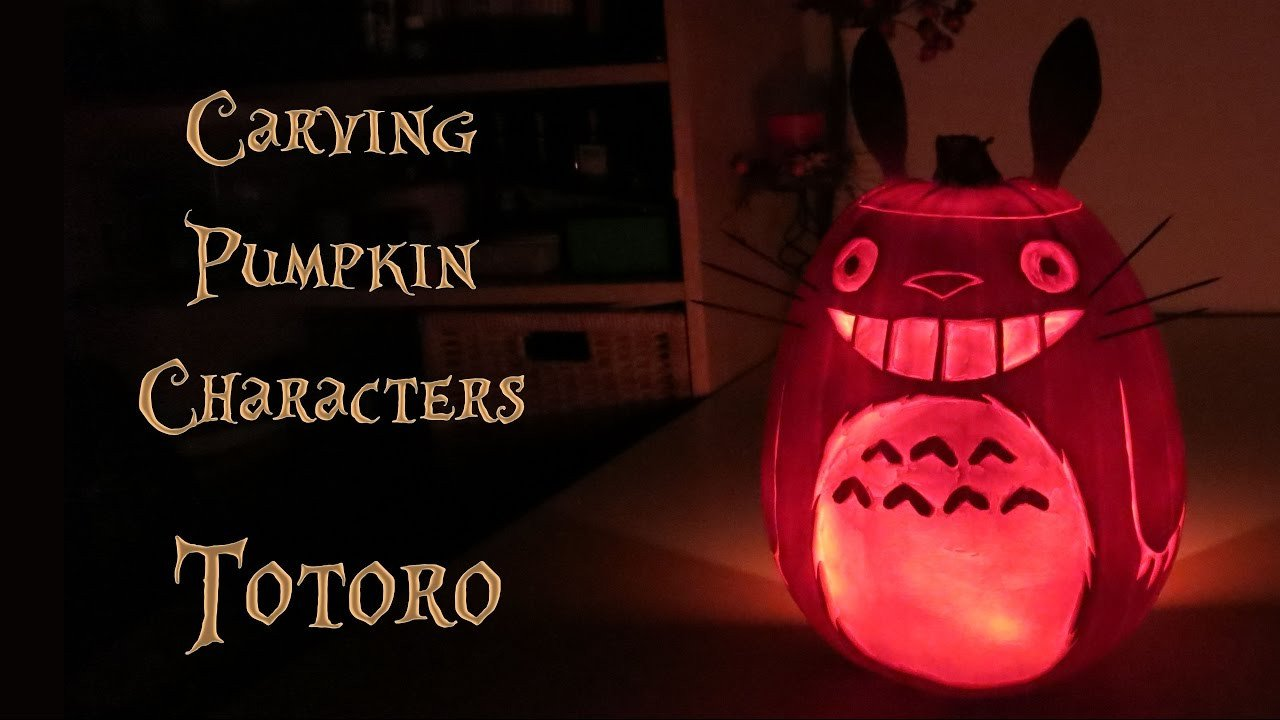 Totoro Pumpkin Stencils Halloween totoro Pumpkin – Carving and Preservation
