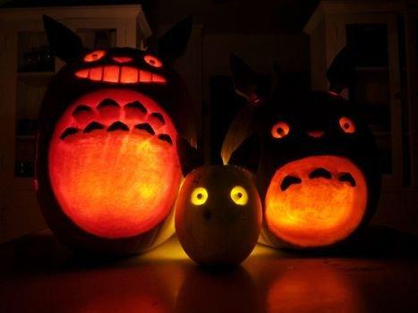 Totoro Pumpkin Stencils Myneighbortotoro