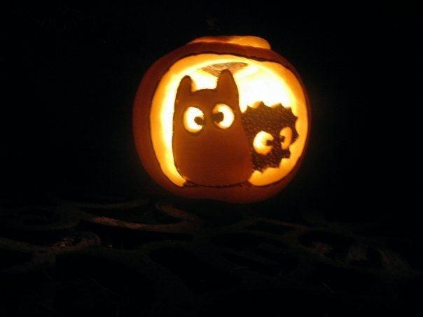 Totoro Pumpkin Stencils totoro and soot Ball