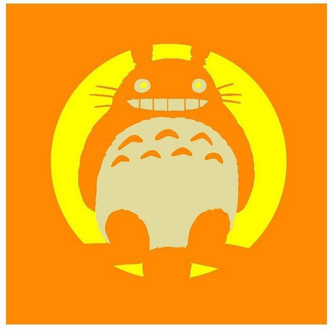 Totoro Pumpkin Stencils totoro Jack O' Lantern Stencil – Biblioklept