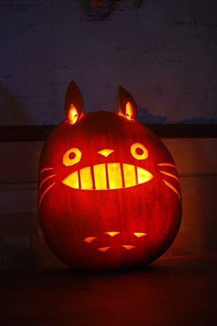 Totoro Pumpkin Stencils totoro Pumpkin Halloween Stuff
