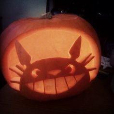 Totoro Pumpkin Stencils totoro Pumpkin Stencil