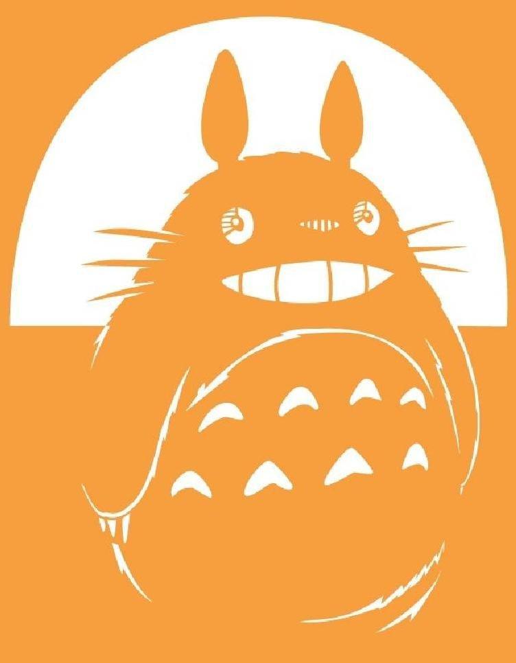 Totoro Pumpkin Stencils totoro Stencil by Volkeverglory On Deviantart