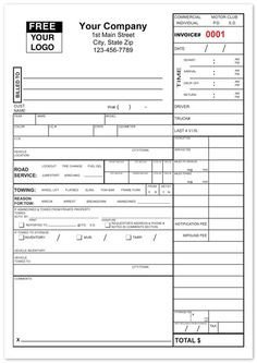Tow Truck Receipt Template towing Invoice forms towing Invoice