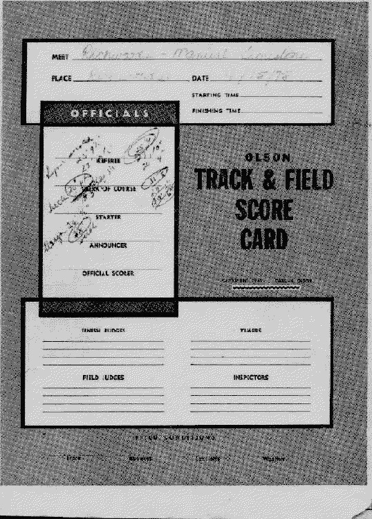 Track Meet Scoring Spreadsheet 1975 the First Season Of Richwoods Women S Track & Field