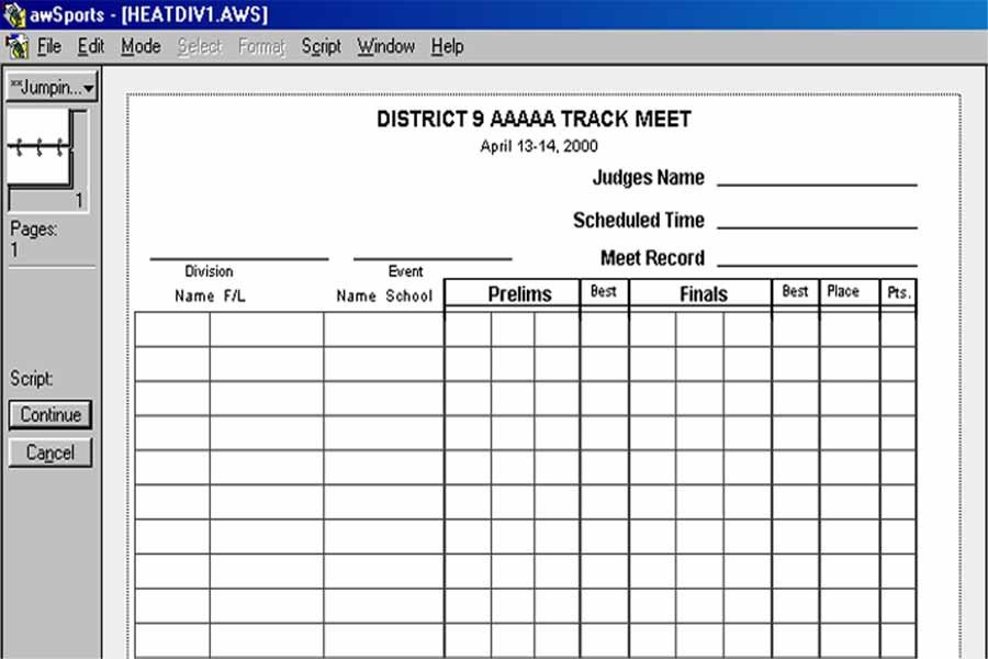 Track Meet Scoring Spreadsheet Basketball Scoresheet