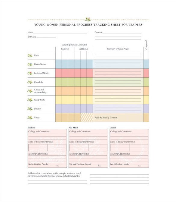 Tracking Student Progress Template 11 Progress Tracking Templates – Free Sample Example