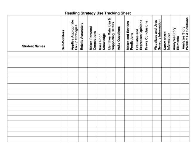 Tracking Student Progress Template Another Helpful Reading assessment form to Track Each