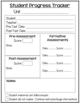 Tracking Student Progress Template Data Tracking Sheets