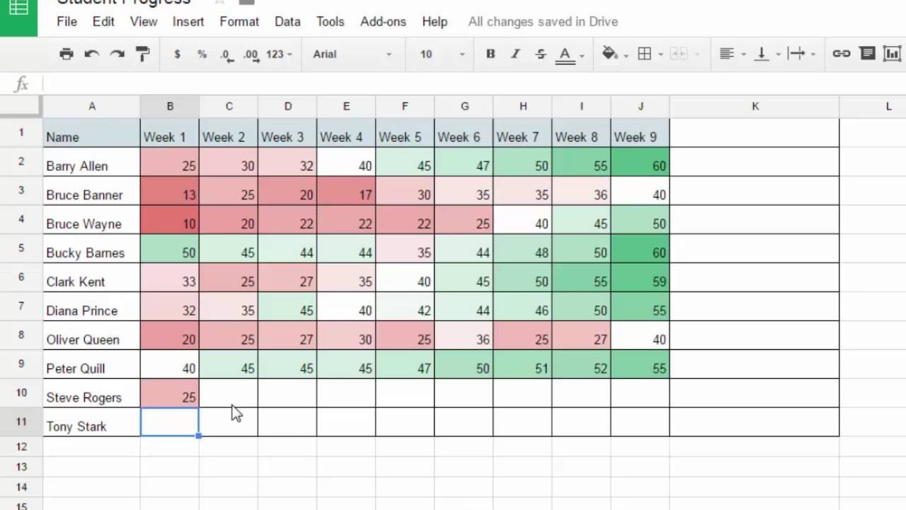 Tracking Student Progress Template Track Student Progress with Google Sheets