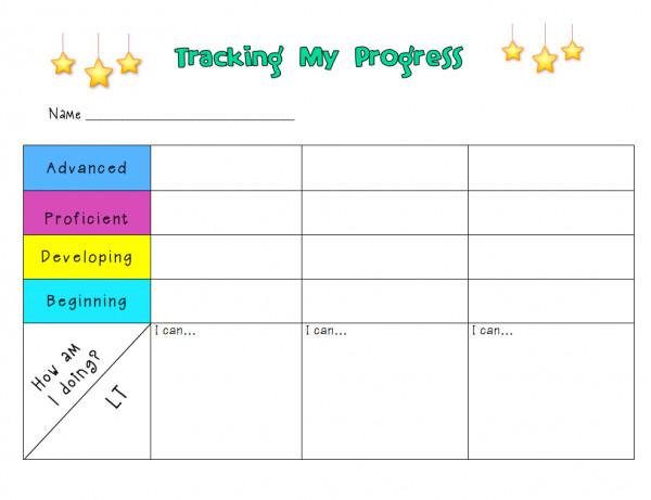 Tracking Student Progress Template Tracking Progress