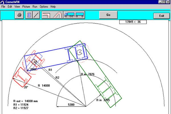 Tractor Trailer Turning Radius Trailerwin Truck and Trailer Calculations Transport