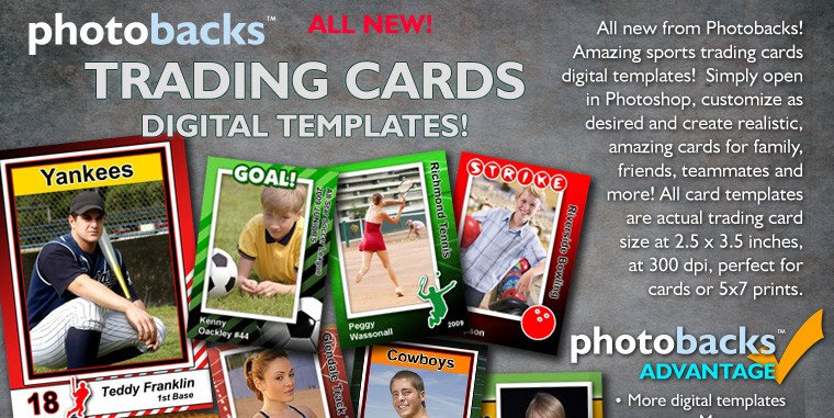 Trading Card Template Photoshop 17 Sports Psd Templates for Graphers Free