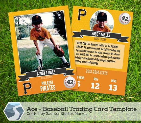 Trading Card Template Photoshop Ace Baseball Trading Card 2 5 X 3 5 Shop