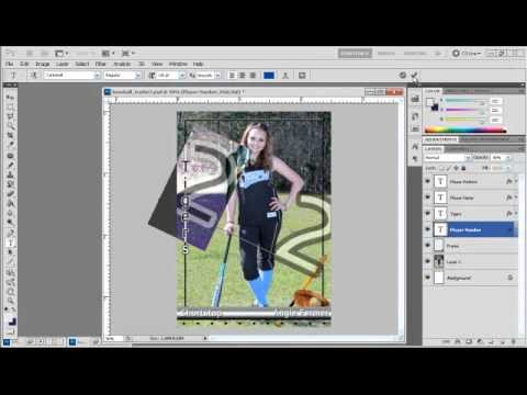 Trading Card Template Photoshop How to Create Sports Trading Cards with Shop