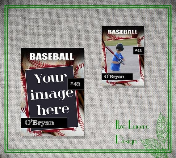 Trading Card Template Photoshop Psd Baseball Trading Card Template by Ilzesdesigns On Etsy