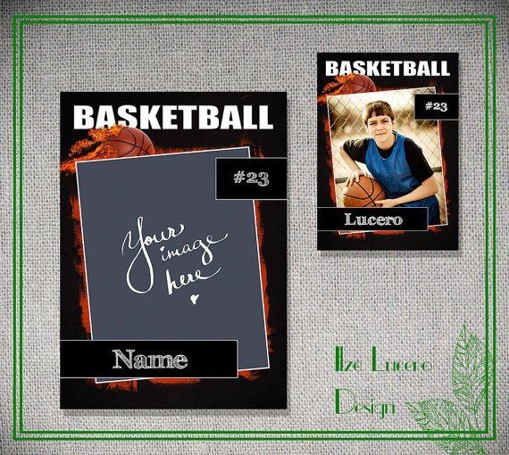 Trading Card Template Photoshop Psd Basketball Trading Card Template