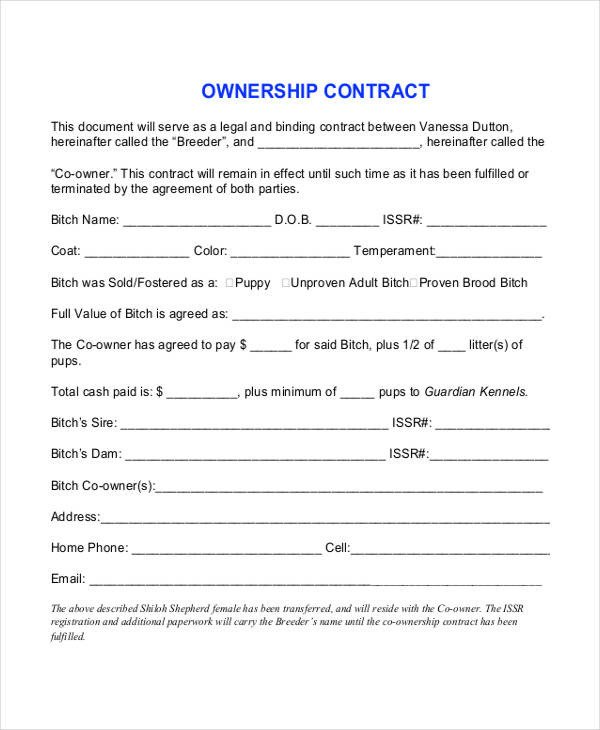 Transfer Of Ownership Agreement 12 Pany Contract Templates Word Pdf Google Docs