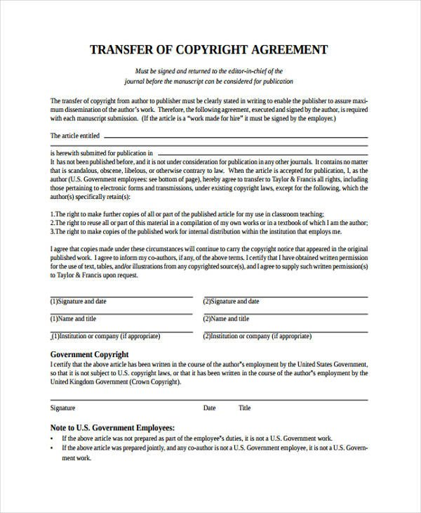 Transfer Of Ownership Agreement 12 Transfer Agreement Templates Free Word Pdf format