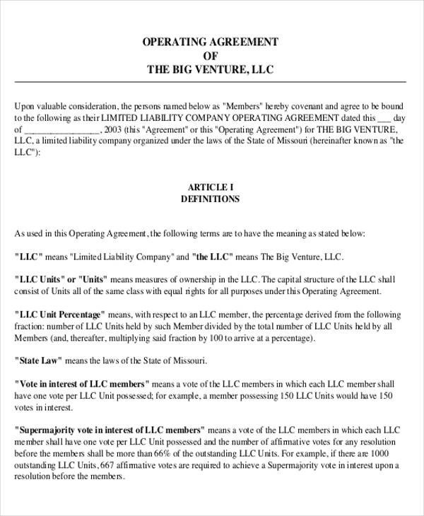 Transfer Of Ownership Agreement 14 Operating Agreements Samples Examples Pdf Google