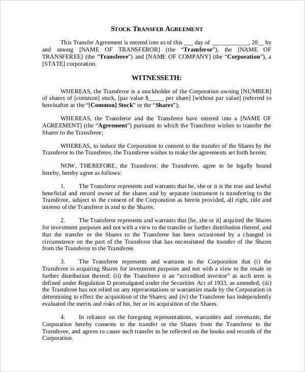 Transfer Of Ownership Agreement Sample Business Transfer Agreement 6 Examples In Word Pdf