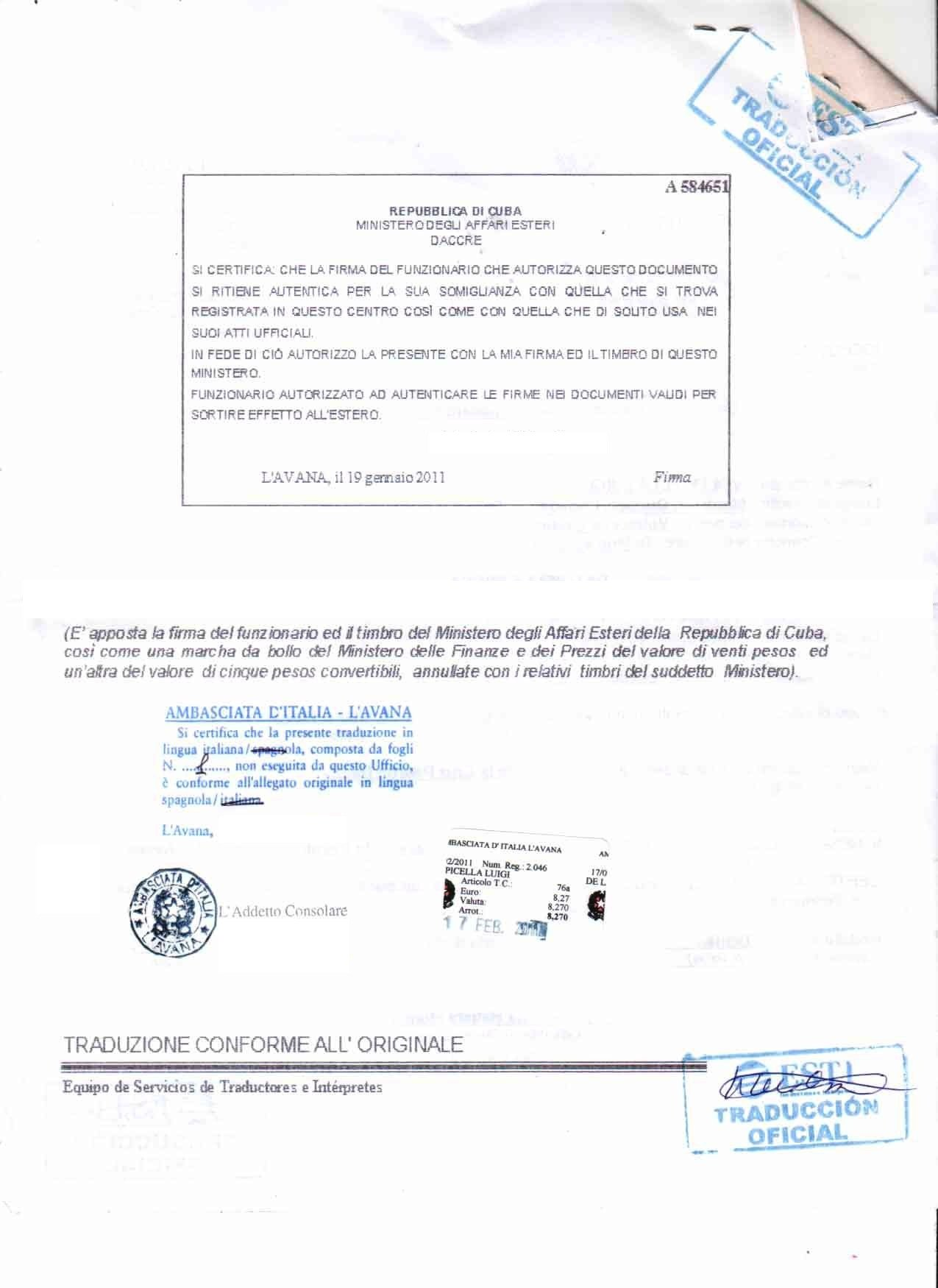 Translation Of Divorce Certificate Template 25 Of Cuban Divorce Certificate Translation