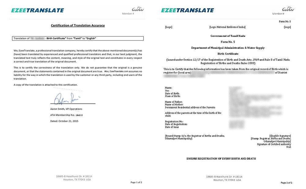 Translation Of Divorce Certificate Template Birth Certificate Translation Services